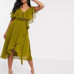 2/$70 🌺 ASOS Midi Cape Dress - Size 6US
